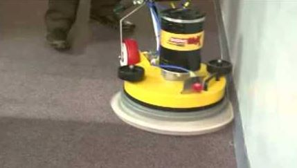 applying the encapsulation carpet cleaning process